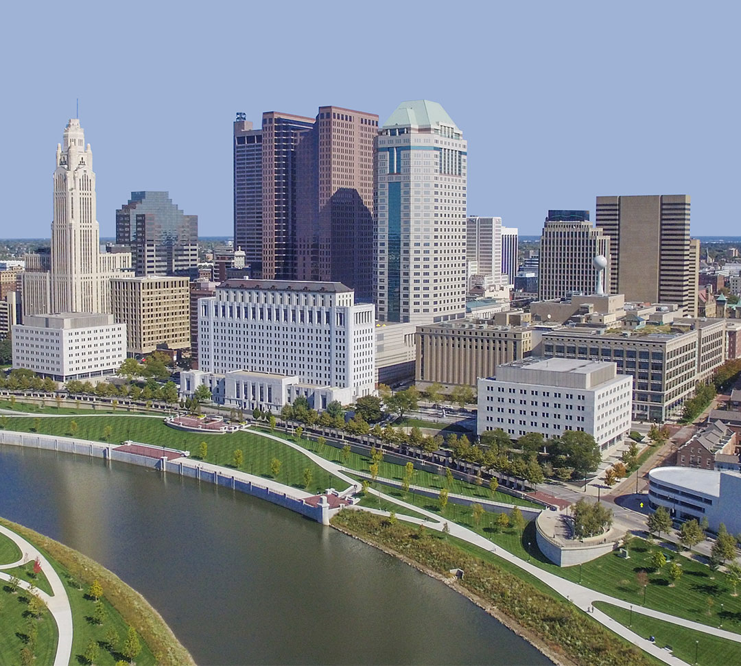 Columbus Skyline Background Mobile