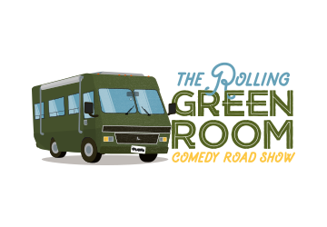 The Rolling Green Room Comedy Road Show Logo Design