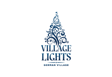 German Village Lights Logo Design