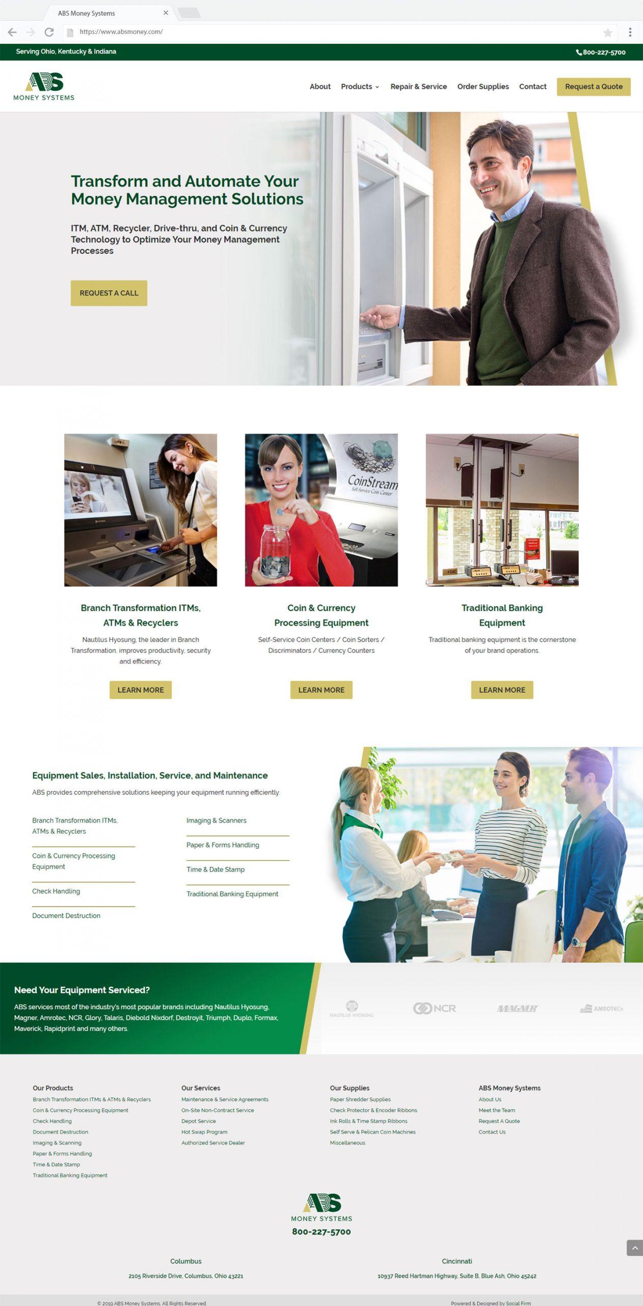 ABS Money Systems Website Design