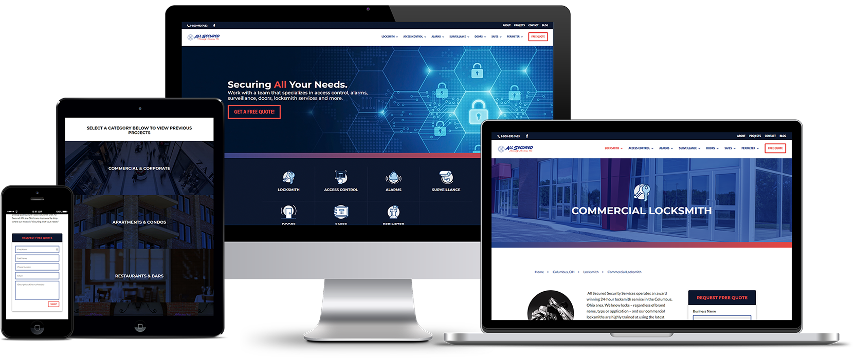 All Secured Responsive Website Design Showcase