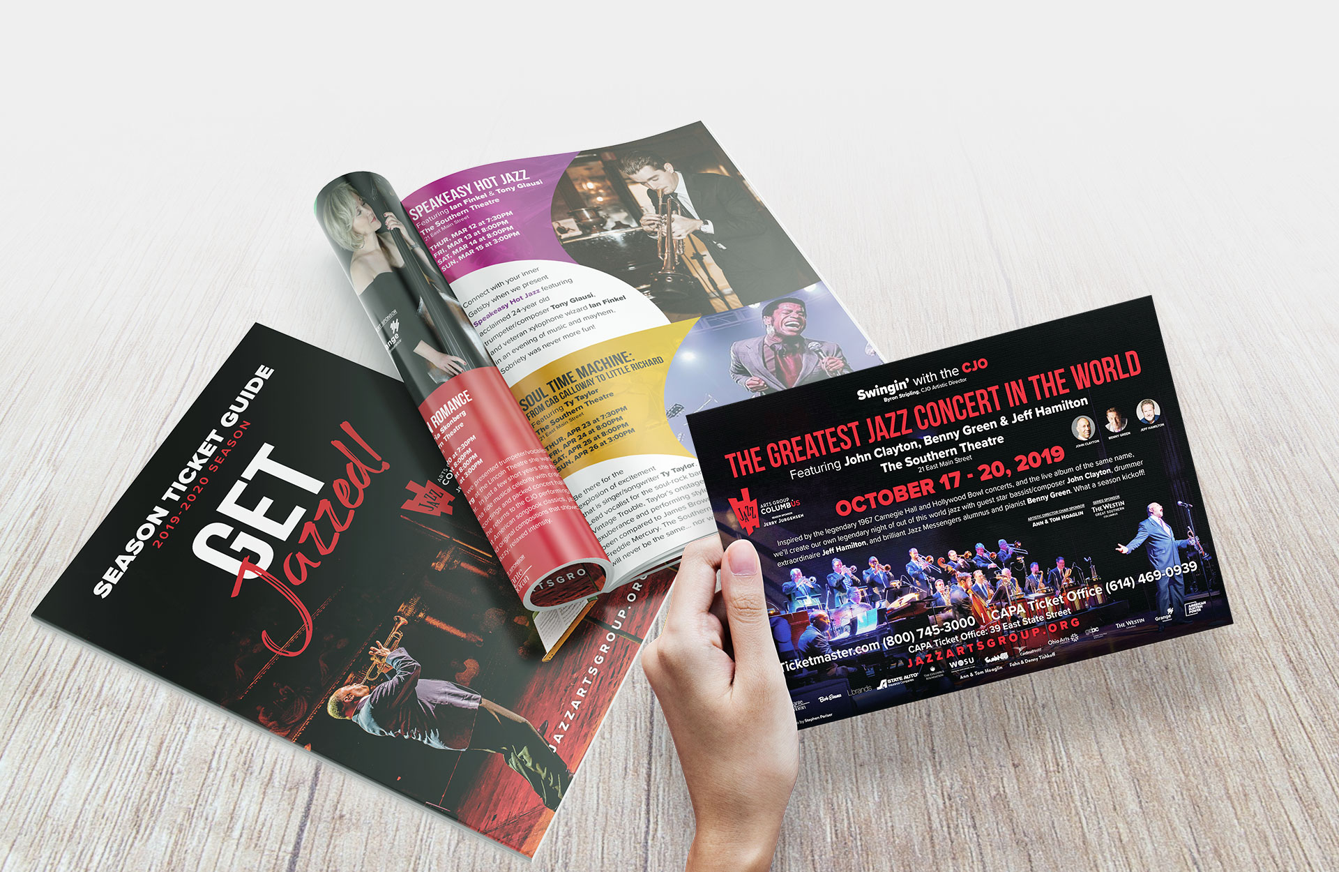 Jazz Arts Group Columbus Print Collateral