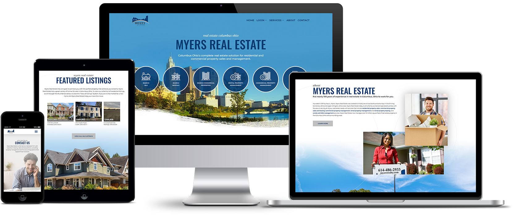 Myers Real Estate Responsive Website Design Showcase