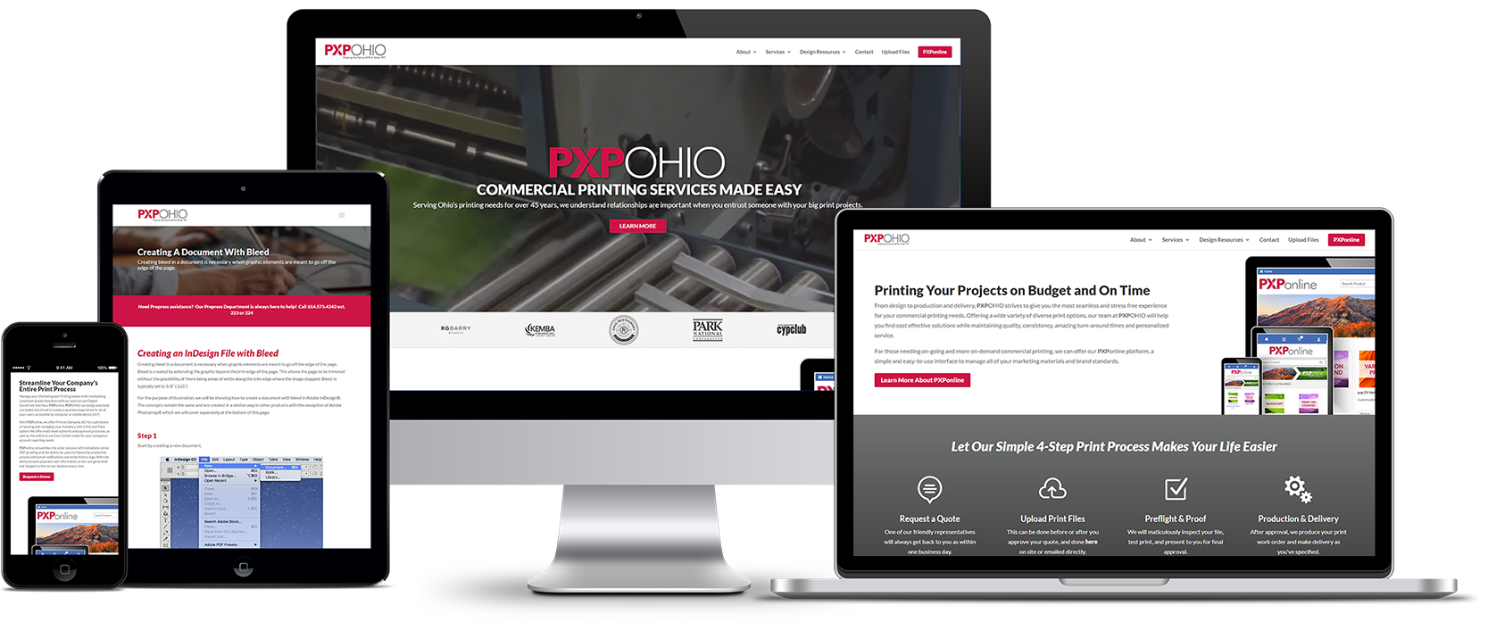 PXP Ohio Responsive Website Design Showcase