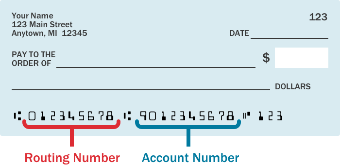 ACH Routing and Account Number Help