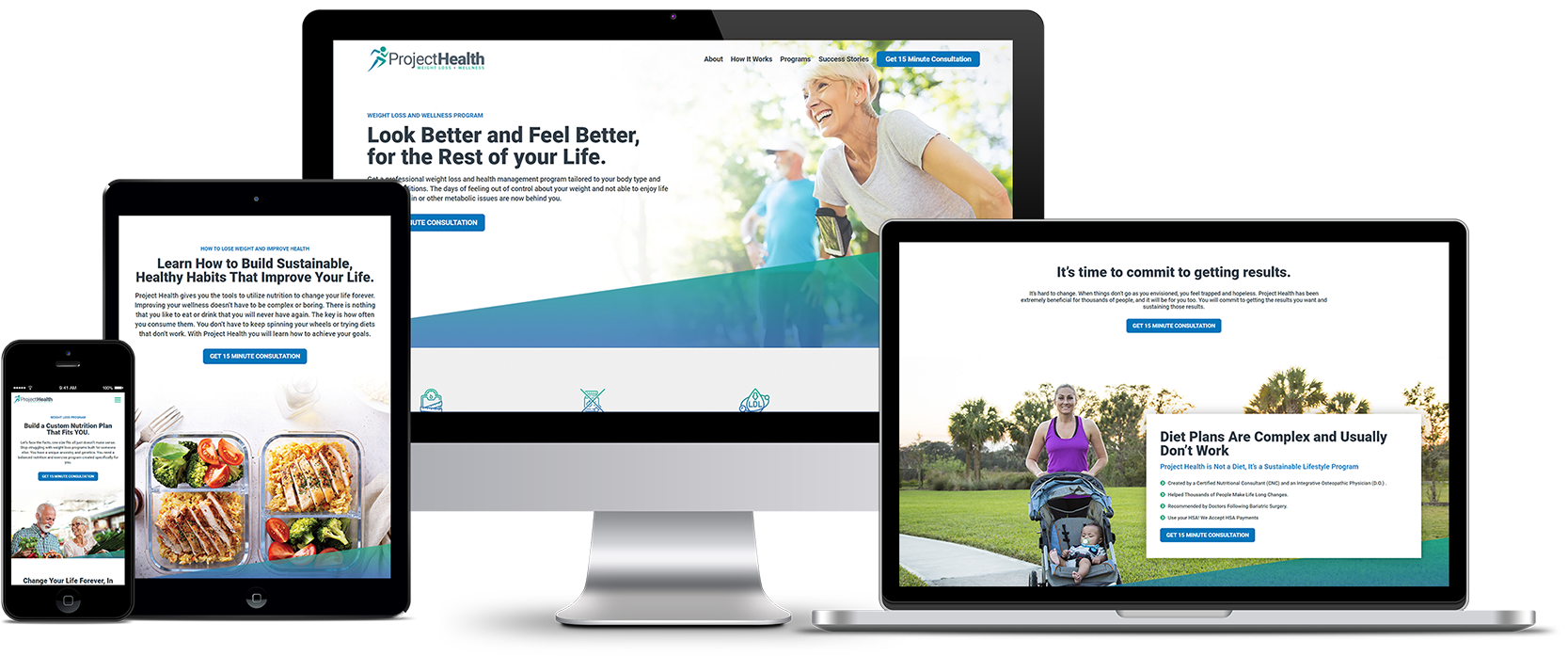 Project Health Responsive Website Design Showcase
